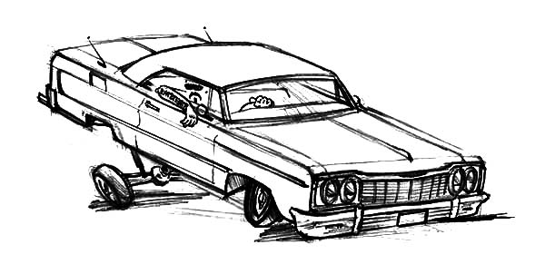 extreme changes hydraulics lowrider cars coloring pages