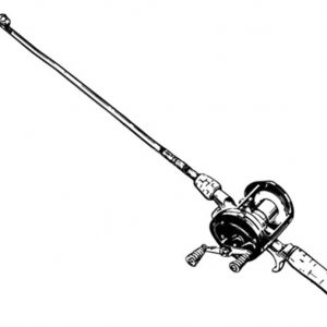 Fishing Pole Designed For Marlin Coloring Pages