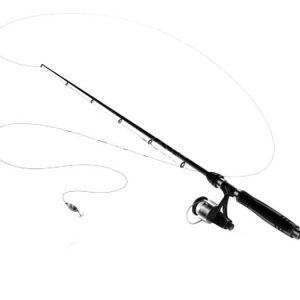 Fishing Pole Spinning With Spoon Bait Coloring Pages