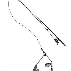 Fishing Pole With Lure Coloring Pages