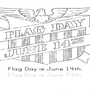 Flag Day June 14th Coloring Pages
