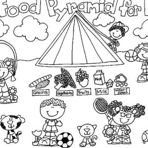Food Pyramid For Kids Coloring Pages