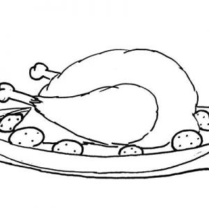 Fried Chicken Coloring Pages