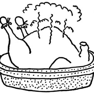 Fried Chicken Country Style Coloring Pages