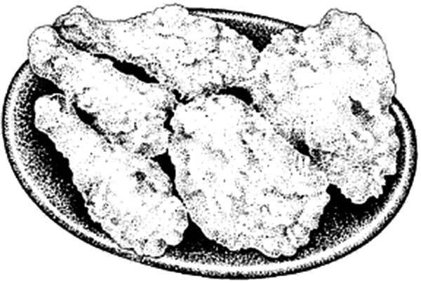 Fried Chicken On Plate Coloring Pages Download Print Online