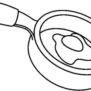 Fried Egg Frying Pan Coloring Pages