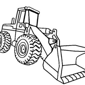 Front Loader Excavator Coloring Pages