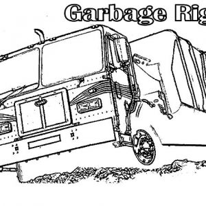 Garbage Rig Truck Coloring Pages