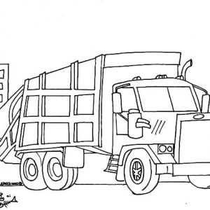 Garbage Truck Cleaning Our Environment Coloring Pages