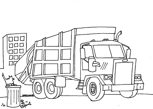 free garbarge truck coloring pages - photo#20