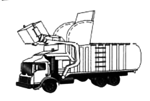 Garbage Truck, : Garbage Truck Coloring Pages for Kids
