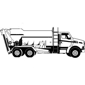 Garbage Truck Loader Coloring Pages