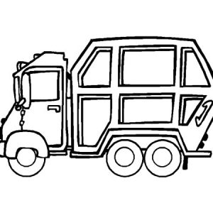 Garbage Truck Parking Coloring Pages