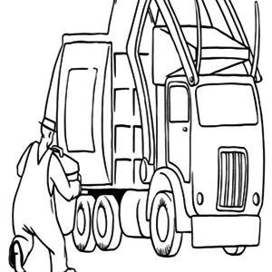 Garbage Truck Vehicles Coloring Pages