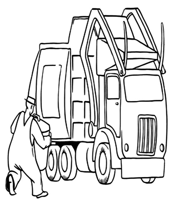 coloring pages garbage truck - photo#14