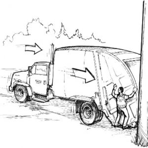 Garbage Truck And Garbage Man Coloring Pages