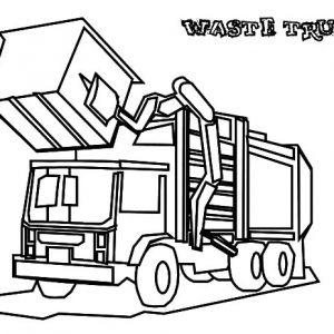Garbage Waste Truck Coloring Pages