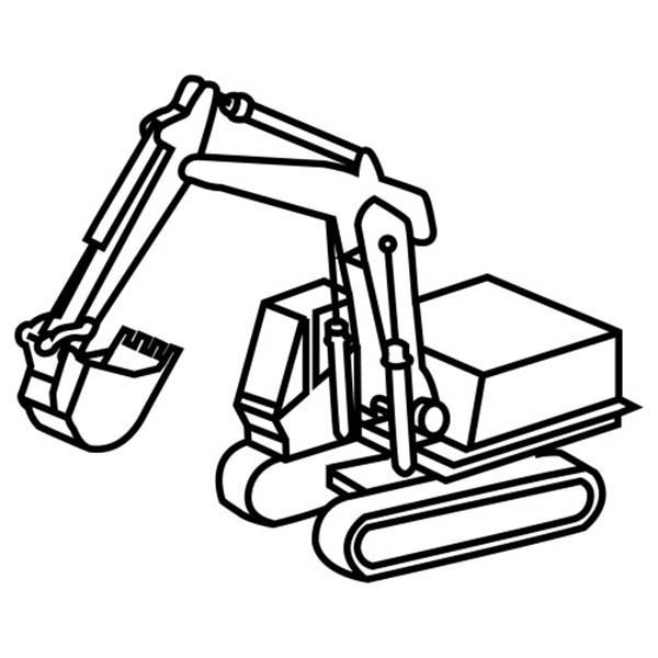 excavator coloring pages to print - photo#29