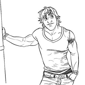 Good Looking Kristoff Coloring Pages