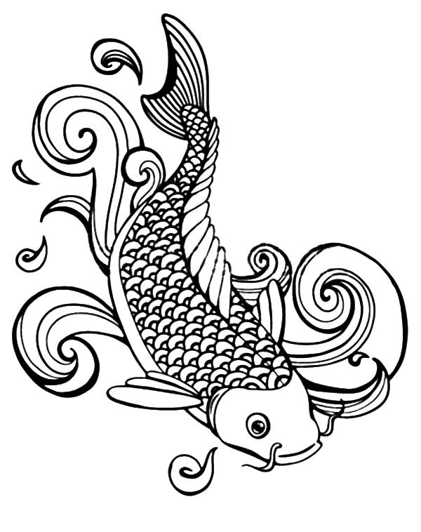 japanese koi coloring pages - photo#25