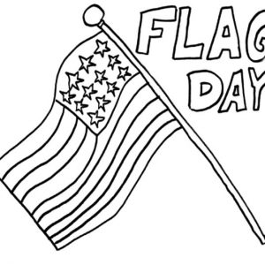 Happy Flag Day Coloring Pages