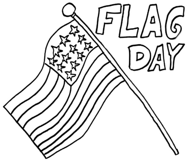 flag day coloring pages Happy Flag Day Coloring Pages   Download & Print Online Coloring  flag day coloring pages