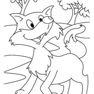 Happy Kit Fox Coloring Pages