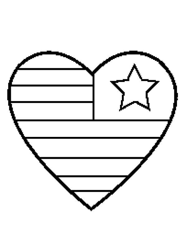 Heart Flag Day Coloring Pages - Download & Print Online Coloring ...
