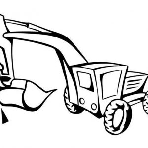 Heavy Construction Equipment Hydraulic Excavator Coloring Pages