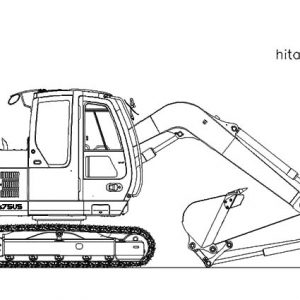 Hitochi Loader Excavator Coloring Pages