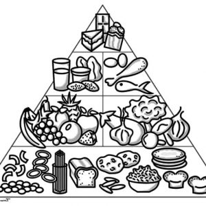 How To Draw Food Pyramid Coloring Pages