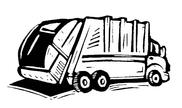 How To Draw Garbage Truck Coloring Pages Download Print Online