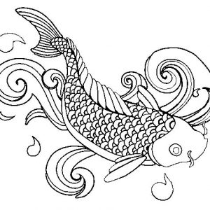 How To Draw Koi Fish Coloring Pages