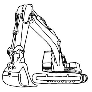 Hydraulic Excavator Coloring Pages