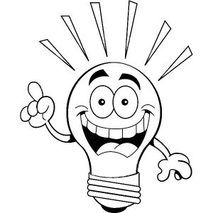 I Have An Idea Light Bulb Coloring Pages