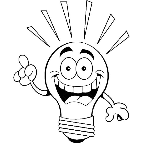 light bulb coloring pages for kids | I Have An Idea Light Bulb Coloring Pages - Download ...