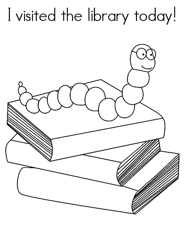 I Visited The Library Today Coloring Pages - Download & Print Online Coloring  Pages For Free Color Nimbus