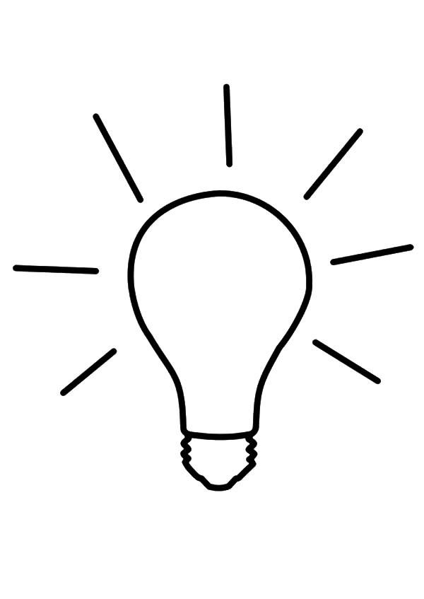 Idea Light Bulb Coloring Pages