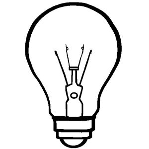 Important Invention Light Bulb Coloring Pages