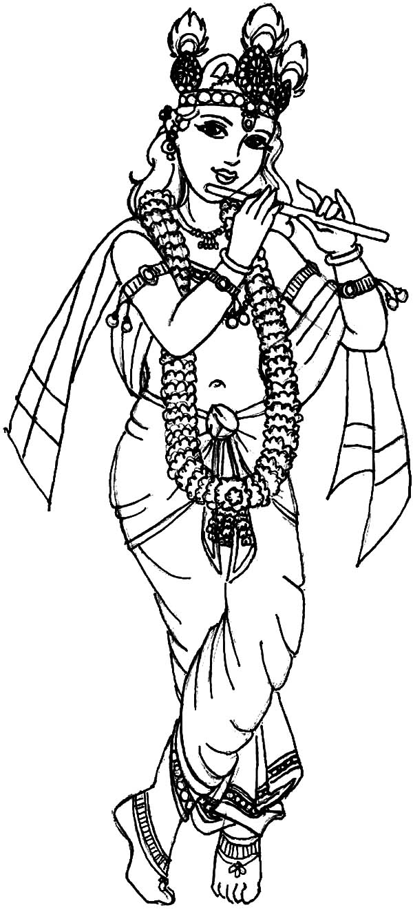 Janmashtami Festival Krishna Coloring Pages Download