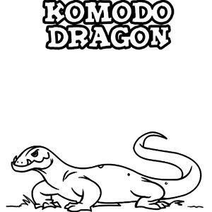 K Is For Komodo Dragon Coloring Pages