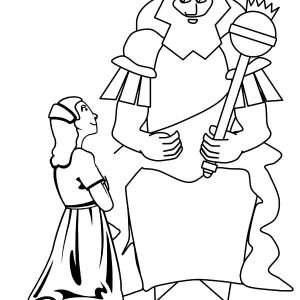King Ahasuerus Listening To Esther Coloring Pages