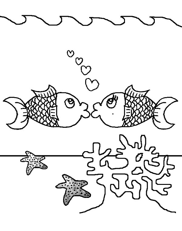 - Kissing Fish Above Coral Reef Coloring Pages - Download & Print Online Coloring  Pages For Free Color Nimbus