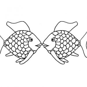Kissing Fish Staring Each Other Eyes Coloring Pages