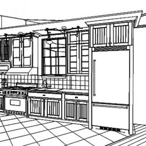 Kitchen Design Interior Coloring Pages