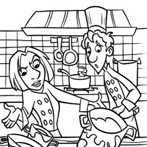 Kitchen Full Of Dirty Cooking Stuff Coloring Pages