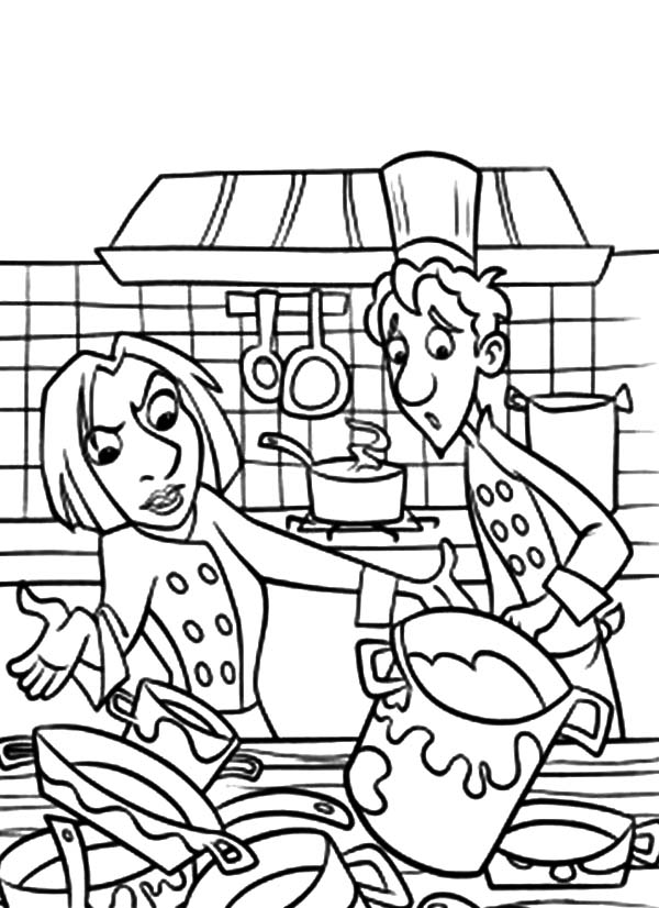 Kitchen Full Of Dirty Cooking Stuff Coloring Pages - Download ...