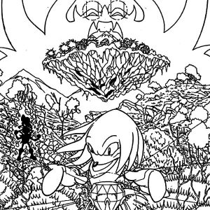 Knuckles Live In Angel Island Coloring Pages