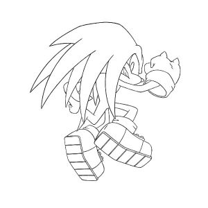 Knuckles Winning Pose Coloring Pages