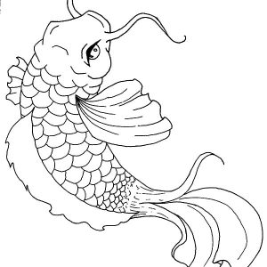 Koi Fish Painting Coloring Pages